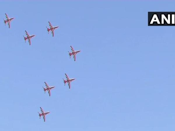 Surya Kiran forms incomplete diamond as a tribute to pilot killed in crash. Courtesy: ANI news