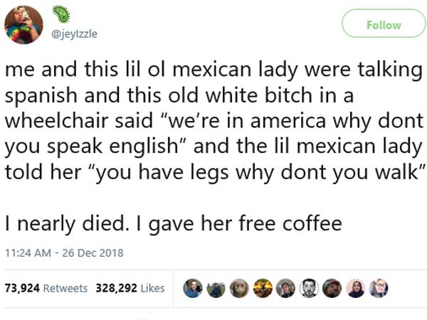 Elderly Mexican woman's savage reply to US woman who tried to bully her is rocking on Internet