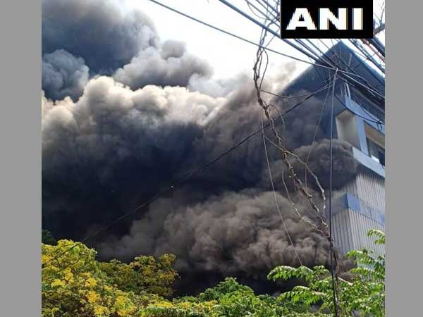 Massive fire breaks out at Paragon footwear godown near Ernakulam in Kochi