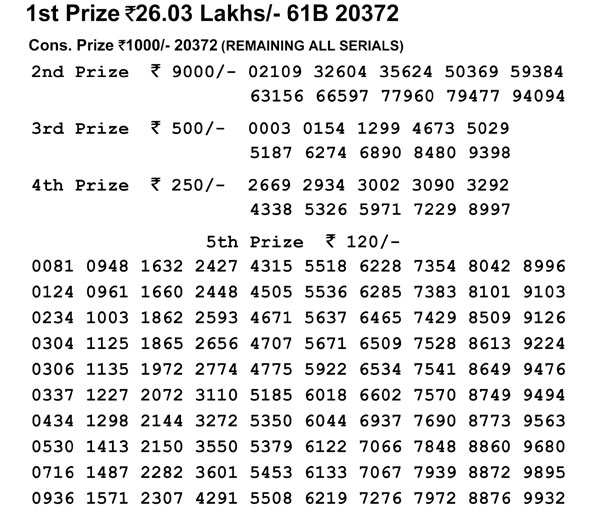 Nagaland Lotteries today results: Check Dear Parrot Falcon results here