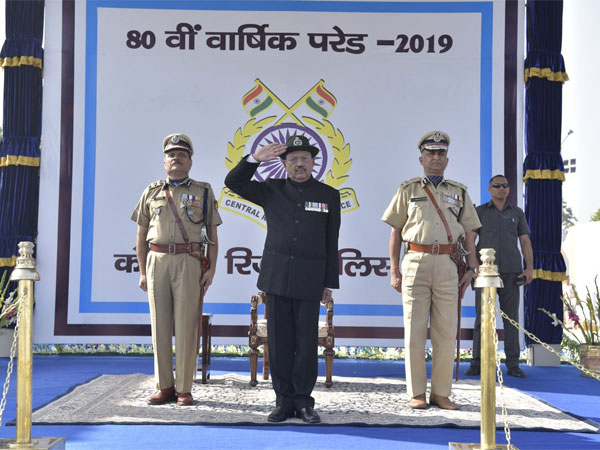National Security Advisor Ajit Doval attends 80th Raising Day of CRPF in Gurugram. Courtesy: @crpfindia