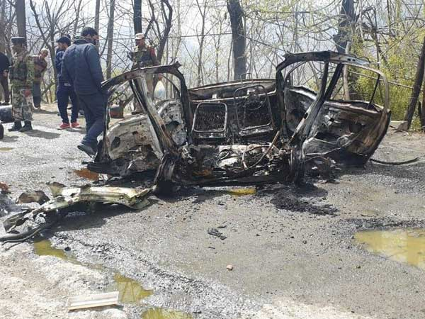 Panic on Jammu highway as car explodes near CRPF convoy