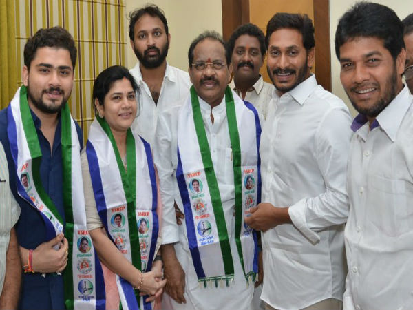 In Andhra, TDP's Kakinada MP Thota joins YSRCP