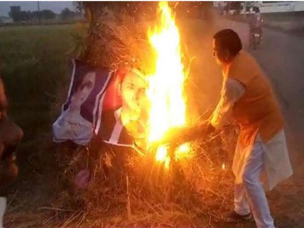 Case against BJP leader for burning pics of Akhilesh, Mayawati during holika dahan