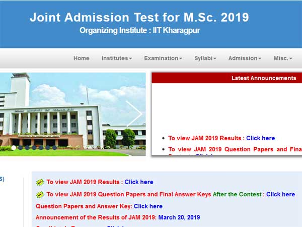 IIT JAM result 2019 declared, check now