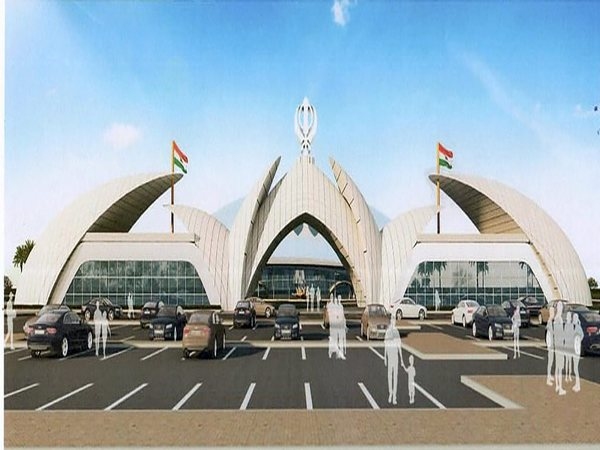 An architecture design of the Passenger Terminal Building, approved by Ministry of Home Affairs, to be constructed for the Kartarpur corridor, in Gurdaspur (PTI Image)