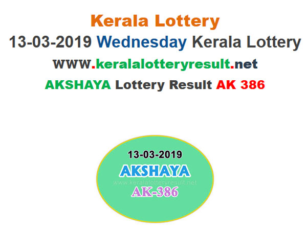 Kerala Lottery Result Today: Win Rs 60 Lakh, Akshaya AK-386 Today Lottery results