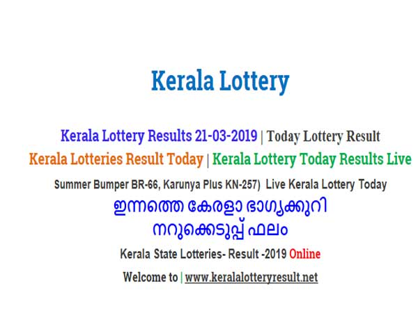 Kerala Lottery Result Today: Summer Bumper BR-66 Today