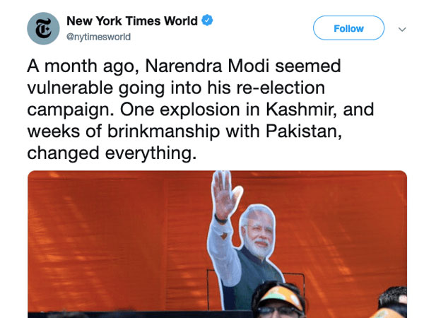 NYT refers Pulwama terror attack as explosion, Twitterati ask was 9/11 just a plane crash?