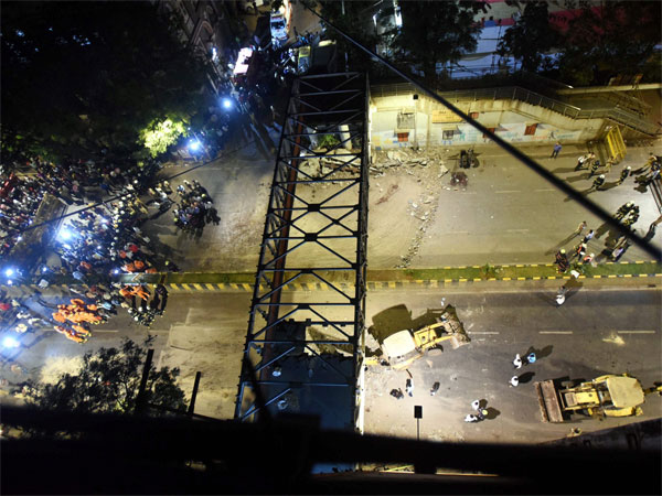 File photo of bridge collapse near CST station in Mumbai on March 14