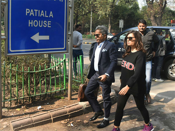 AgustaWestland scam accused Rajiv Saxena outside the Patiala House Court