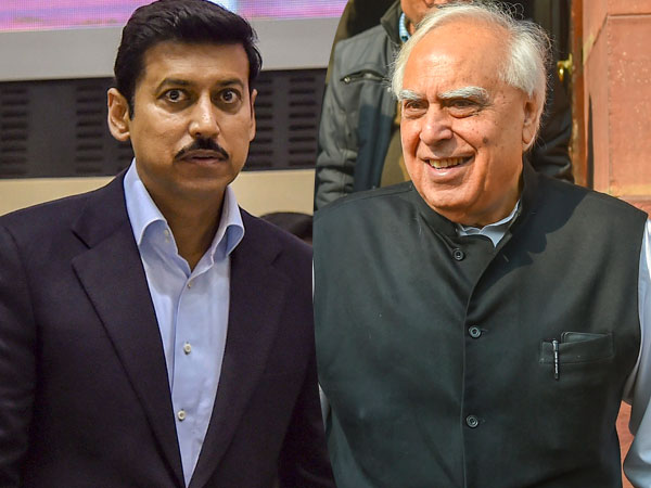 Rajyavardhan Singh Rathore and Kapil Sibal