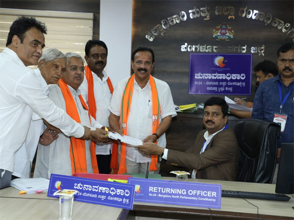 Karnataka: Sadananda Gowda files nomination in Bengaluru North, Congress in huddle