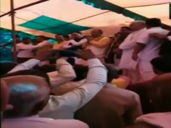 UP: Stages collapses at a function in Sambhal; BJP's Avdesh Yadav, others injured