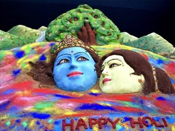 Happy Holi: Sudarsan Pattnaik creates colourful sand art