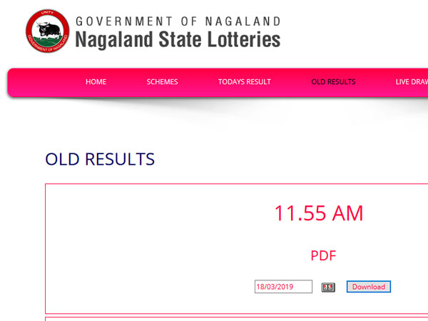 Nagaland Lottery result: Winning numbers