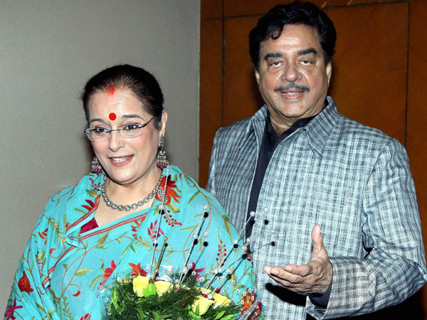 File photo of actor-turned-politician Shatrughan Sinha along with his wife Poonam Sinha
