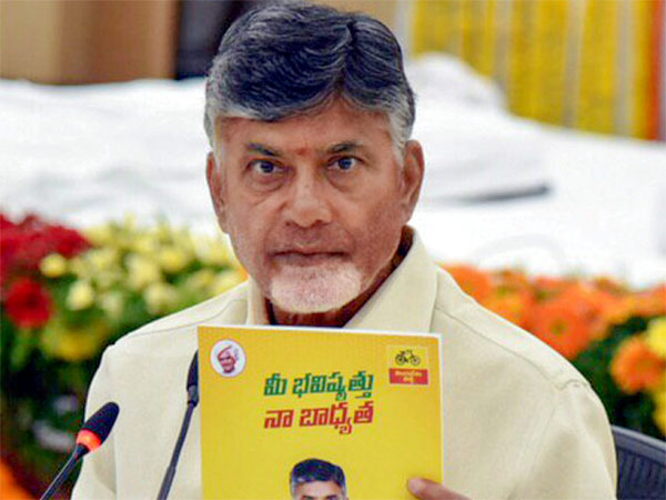 Telugu Desam Party President and Andhra Pradesh Chief Minister Nara Chandrababu Naidu