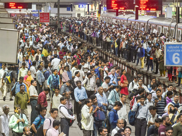 A view of the crowd of commuters at Chhatrapati Shivaji Maharaj Terminus on World Population Day. PTI file photo