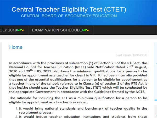 CTET 2019 admit card date, check here