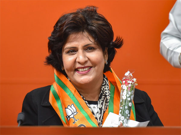 Para-Athlete Deepa Malik joins Bharatiya Janata Party (BJP), at party headquarters in New Delhi, Monday, March 25, 2019.
