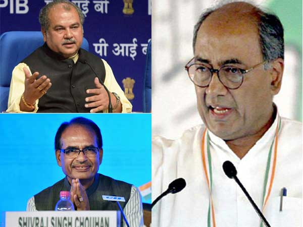 Saffron leadership concerned over Digvijaya's friendship with Chouhan, Tomar