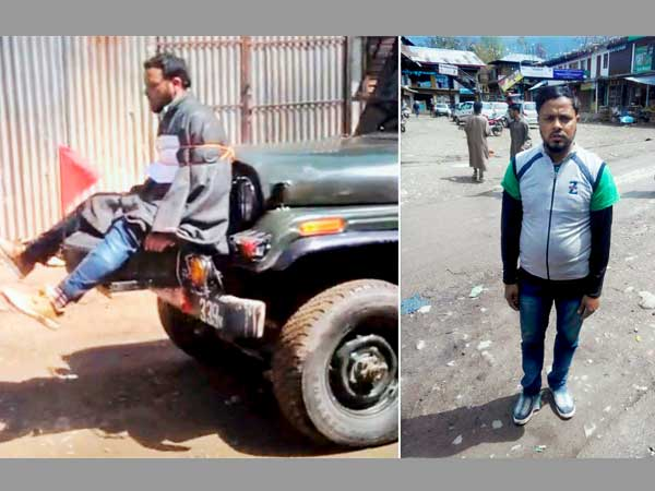 Man who was used as human shield in J&K was on poll duty