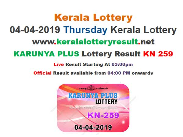 Kerala Today Lottery Results: Karunya Plus KN-259 Today Lottery results, Winning numbers