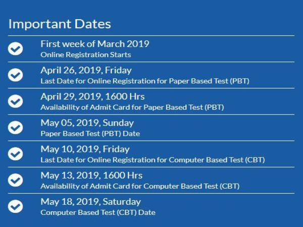 MAT May 2019 important Dates