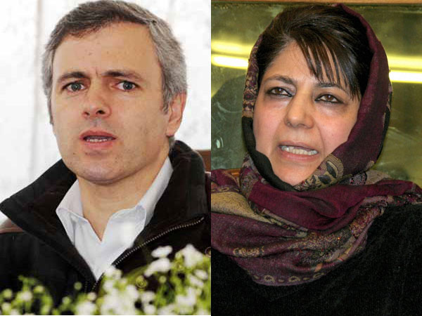 File photo of Omar Abdullah and Mehbooba Mufti