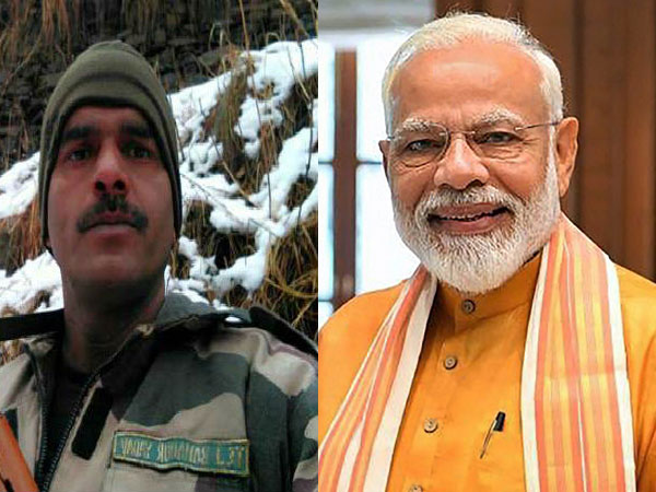 File photo of BSF jawan Tej Bahadur Singh and Narendra Modi