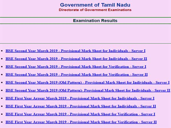 TN SSLC Class 10 Exam Result 2019: When and where to check