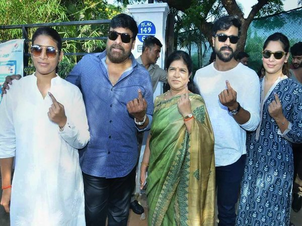Chiranjeevi and his family