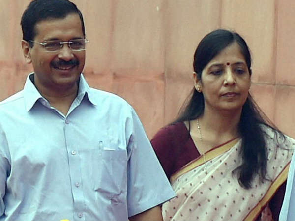 A file photo of Arvind Kejriwal and Sunita Kejriwal