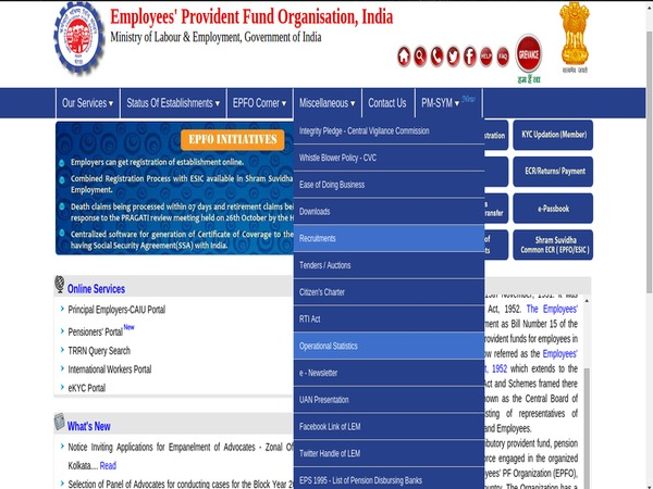 EPFO jobs announced; 280 Assistant vacancies for graduates notification released; How to apply?