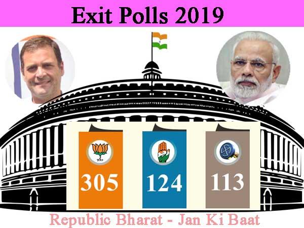 Janta Ki Baat-Republic Exit poll gives 305 for NDA, 124 for UPA