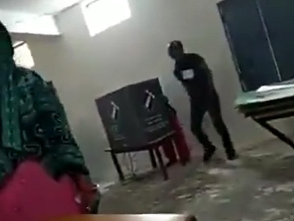Re-polling ordered for Faridabad booth in which man rushes to EVM when a woman was casting vote
