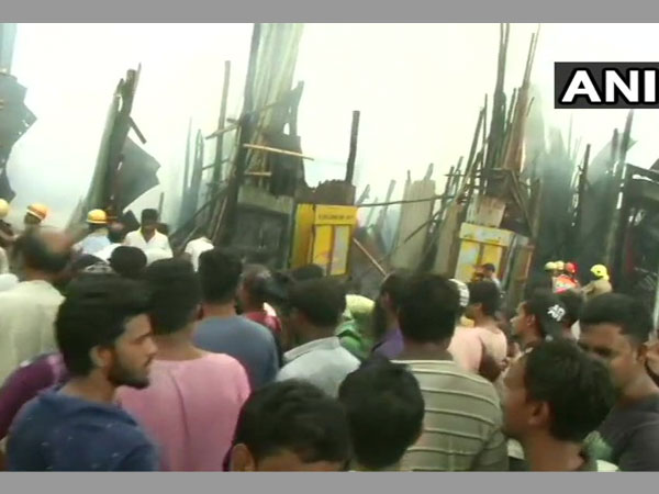 Fire breaks out at Park Circus in Kolkata; 12 fire tenders at spot