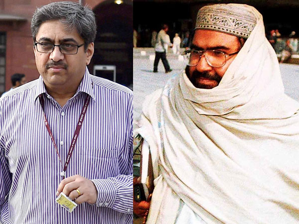 File photo of Indias High Commissioner to Pakistan Gautam Bambawale and Maulana Masood Azhar
