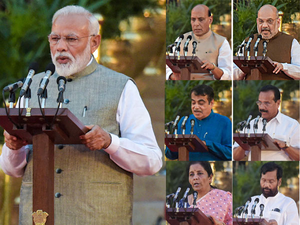 Modi's core team and top ten ministers