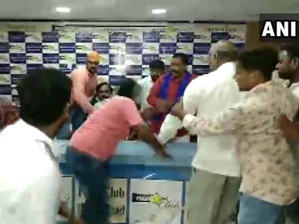 Watch the video of Dalit body president being attacked at Press club in Hyderabad