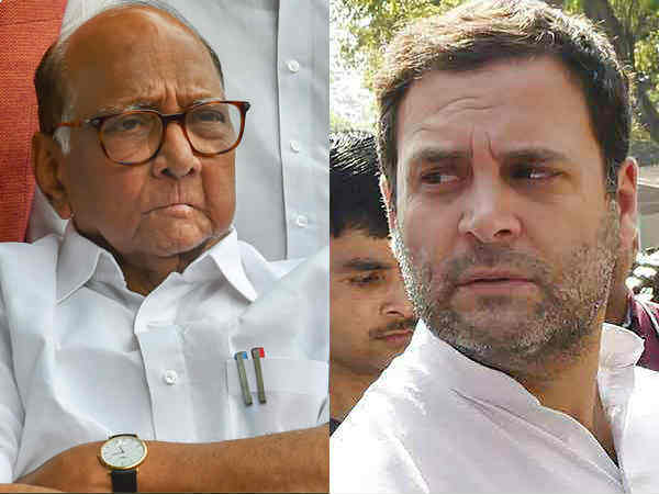 Rahul Gandhi meets Sharad Pawar in Delhi