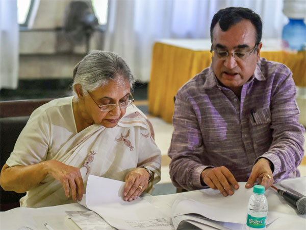 Former Delhi Chief Minister Sheila Dikshit and Congress leader Ajay Maken
