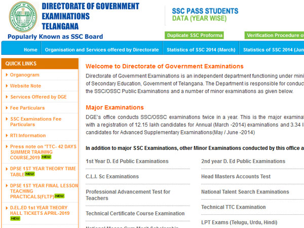 When will TS SSC Result 2019 be declared: Check here