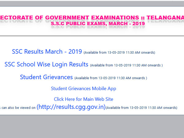 TS SSC Result 2019 declared, how to check