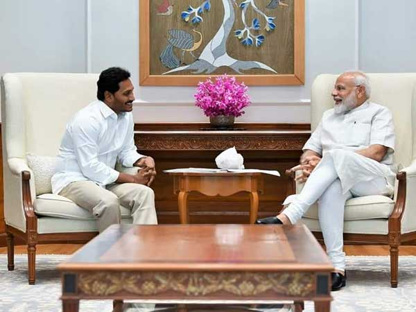 Jagan meets Modi after massive win, discusses Andhra special status, finances