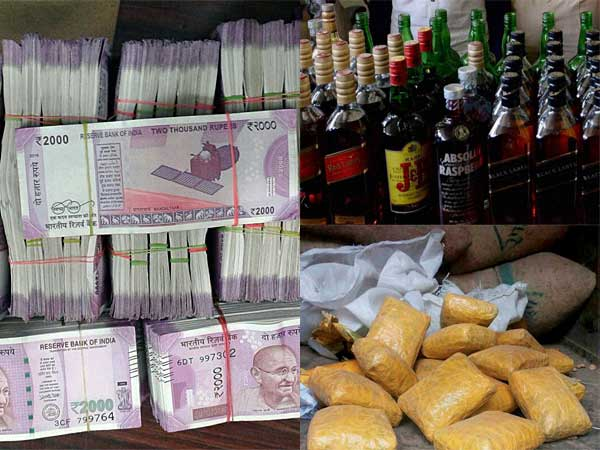 Cash, liquor three times more than 2014 elections