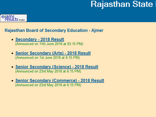 RBSE 12th result 2019 declaring today at this time