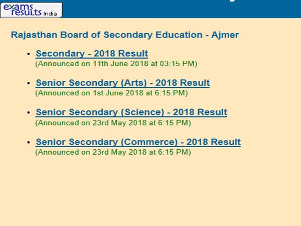 RBSE 12th result 2019 to be declared on May 15