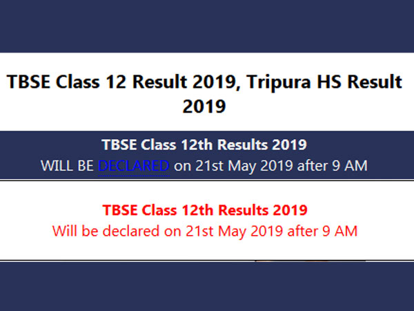 TBSE Class 12 result 2019 for science stream time and date confirmed